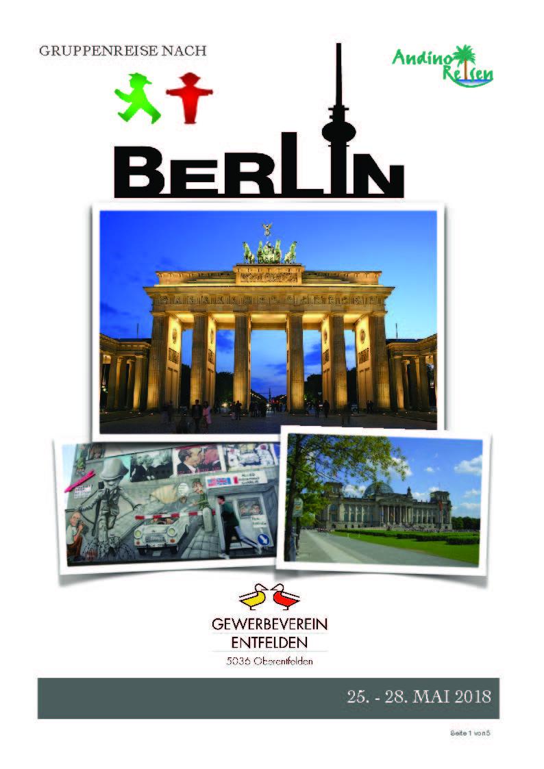 einladung: reise nach berlin | gewerbeverein entfelden, Einladung